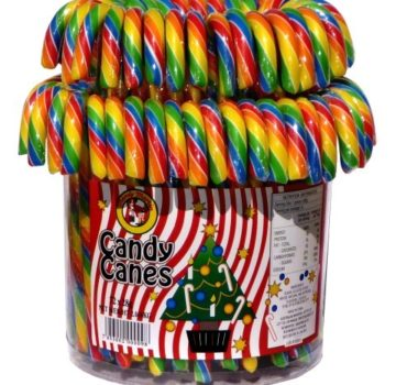W75 - 72 x 28g Rainbow Candy Canes (Small)